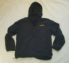 Chaps Ralph Lauren Navy 1/2 zip Pullover Windbreaker Jacket MEDIUM SPELL OUT VTG