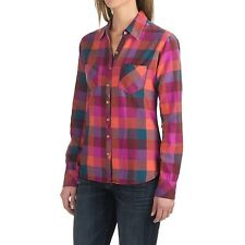 Dickies - Women's XL - NWT - Pink Oxblood/Papaya Buffalo Plaid Flannel Shirt