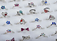 Newly 20pcs Wholesale Mixed Color Gift Childrens Resin Rings Fashion Jewellery
