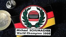Michael Schumacher Pin Badge Formel 1 World Champion Schumi Helm Ehrenkranz