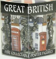 Five Timeline Pewter Great British Figures Hand Crafted Lead Free NIP