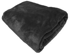 FAUX FUR FLEECE THROW SOFT WARM MINK LARGE SOFA BED BLANKET 10 COLOURS 3 SIZES
