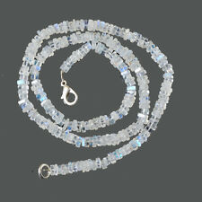 """925 Sterling Silver 14 gms Natural Rainbow Moonstone Jewelry Nacklace L-16"""""""