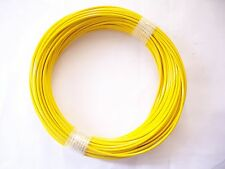 YELLOW Vinyl Coated Wire Rope Cable,1/16 - 3/32, 7x7, 100 ft Coil