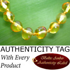 RARE LEMON COLOUR Baby Child BALTIC AMBER NECKLACE
