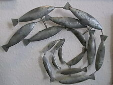 Decorative Shoal Of Mackerel Fish Wall Art  Plaque  new  seaside FREE POST