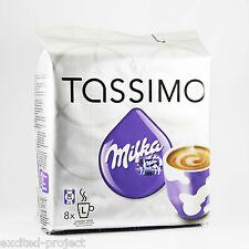 TASSIMO Original German Milka- Hot Chocolate Drink Capsules - 8 T-Discs