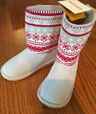 Gymboree NWT 1 New Boots The Holiday Shop BNWT Fair Isle Shoes Girls Christmas