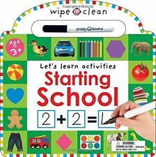 Wipe Clean Starting School Let's Learn Activities (bb with pen included) NEW