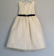 Girl's Muneca Party Dress sz 6X Portrait Flower Girl Pageant Crinoline Sequins