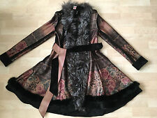 $1000+ NWT Sophie belted with fox fur trim coat US XS/S
