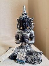 Stunning Thai Buddhas Statue, Sparkling In GREEN & BLUE OPAL  Swarovski Elements