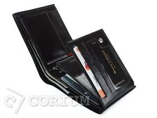 MENS-BLACK-REAL-LEATHER-WALLET BRUNO CASSANI CREDIT CARD HOLDER BIFOLD