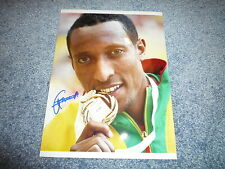 Mohammed Aman SIGNED AUTOGRAFO in persona 20x28 cm Weltmeister 2013 800m