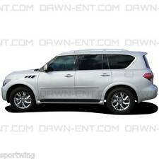 For: INFINITI QX80; PAINTED Body Side Mouldings With Chrome Insert 2014-2016