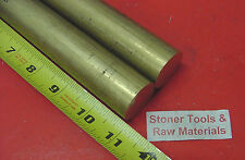 """2 Pieces 1-1/8"""" C360 BRASS SOLID ROUND ROD 11"""" long 1.125"""" H02 Lathe Bar Stock"""