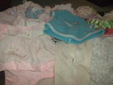Lot 32 Vintage Baby Doll Clothes Dresses Onesies Presious Moments Blanket