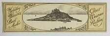 VINTAGE GREAT WESTERN RAILWAY HOLIDAY HAUNTS BOOKMARKER: St. MICHAEL'S MOUNT