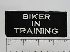 Biker in Training Outlaw Biker Funny Motorcycle Iron On Small Patch