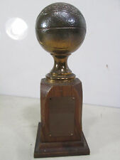 1950 Brass or Bronze & Wooden Basketball Consolation Trophy Kenton Ohio