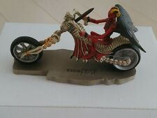 Death rider Hell's Angels motorcycle figurine