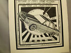 1980 Ford Crown Victoria LTD Auto Pen Ink Hand Drawn Poster Automotive Museum