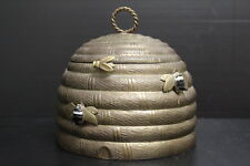 Antique Vintage Mottahedeh Brass Beehive Box Biscuit Box Decorate Made in India
