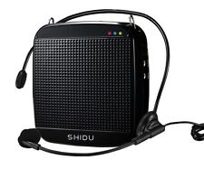 SHIDU S512 Portable Loud Speaker with MIC, PA System Voice Amplifier with Sound