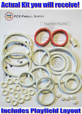 1979 Williams Gorgar Pinball Machine Rubber Ring Kit