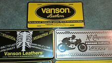 Vanson leathers license plates - ALL 7!!! Commercial plates - Japan quality gear