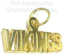 Vikings Charm New Sports Team Word Pendant 24k Gold Plated Jewelry Gifts