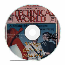 Technical World Magazine, 119 Vintage issues, 1904-1915, Historic Read DVD, V18