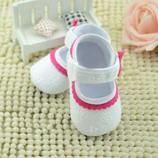 Baby Kids Girl Embroidered Flower Soft Crib Sole Bottom Newborn Girl Shoes