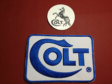 "Colt Firearms Manufacturer Embroidered 4"" X 2.75"" Patch + FREE COLT STICKER"