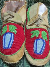 NATIVE FULL BEAD MOCCASINS BLUE BELLS MULTI COLOR SZ 8