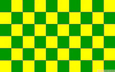 GREEN AND & YELLOW CHECKERED CHECK FLAG 3X2 feet 90cm x 60cm FLAGS MOTOR SPORT
