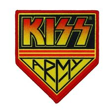 "Large ""KISS Army"" Logo Patch Rock Band Fan Club Member Apparel Iron-On Applique"