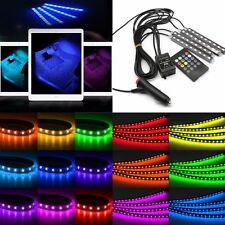 9 LED Car Charge Glow Interior Decorative Atmosphere Light Bulb Lamps 4 in1 inUK