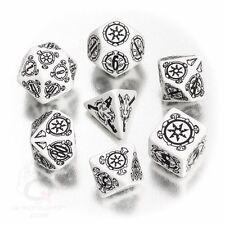 Q-workshop 7 Dice Set of White & Black Pathfinder Shattered Star SPAT02