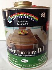Organoil Garden Furniture Oil & External Oil RED 2 litre