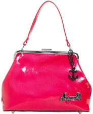 Betsy Purse by Sourpuss HOT PINK Vinyl Retro Bag Pin Up Girl Rockabilly