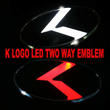 2 Way White & Red LED K Logo Emblem Badges Rear for Kia Forte 2011-2016 NEW