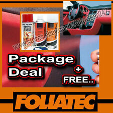 Foliatec Car Interior Dashboard Door Plastic Red Spray Paint, Sealer, Primer +