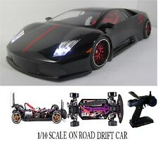 1/10 Scale Lamborghini Murcielago RTR Custom RC Drift Cars 4WD 2.4Ghz & Charger