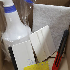 Window Film Tools Kit Tinting Scraper Squeegee Spray Bottle Application Fitting