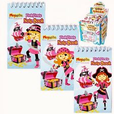 6 X Pink Pirate notebook Party bag Filler