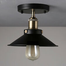 Black Industrial Flush Mounted Ceiling Light Fixtures Vintage Chandelier Lamp