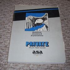 1988 ASA Private Pilot Test Guide Questions Answers & Explanations FAA