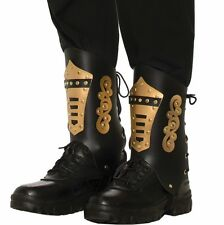 Steampunk Black Boot Tops Covers Victorian Industrial Adult Costume Accessory