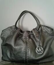 Michael Kors Extra Large Metallic Astor Studded Hobo Purse, Shoulder Bag